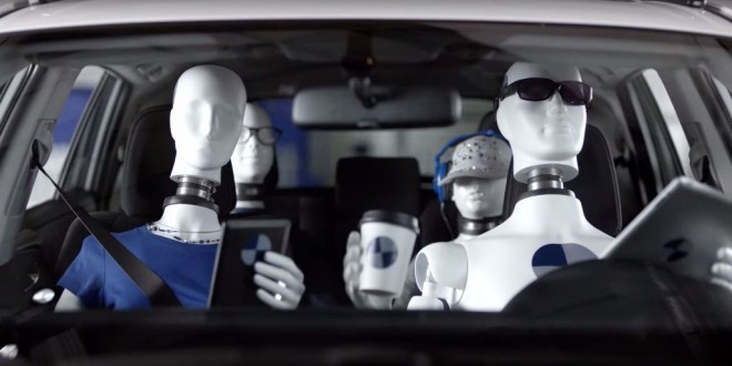 crash test dummies in a car